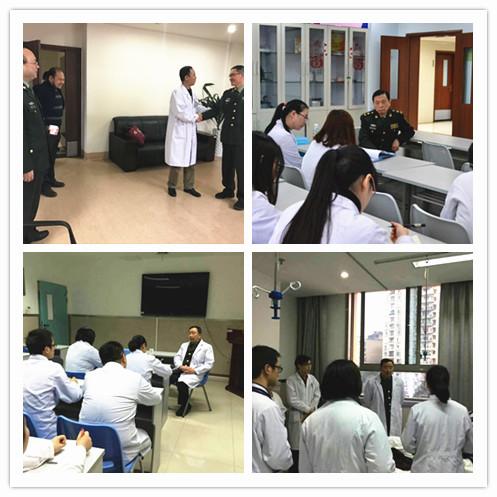 专家与临床科室交流-重庆医学 2017年7月终审会暨教学查房在涪陵中