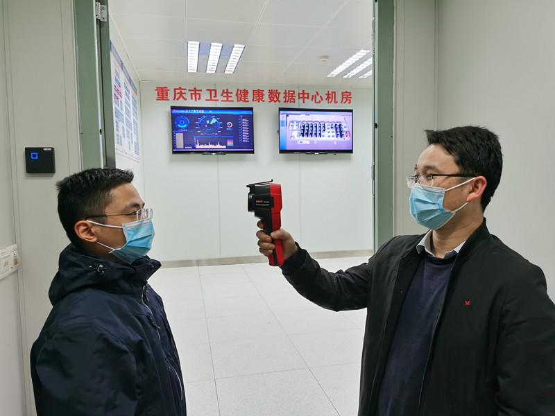数据中心机房入口-个人体温红外线热感成像体温监测